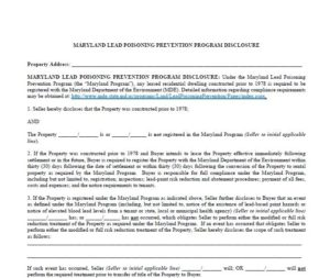 Lead disclosure for sale by owner